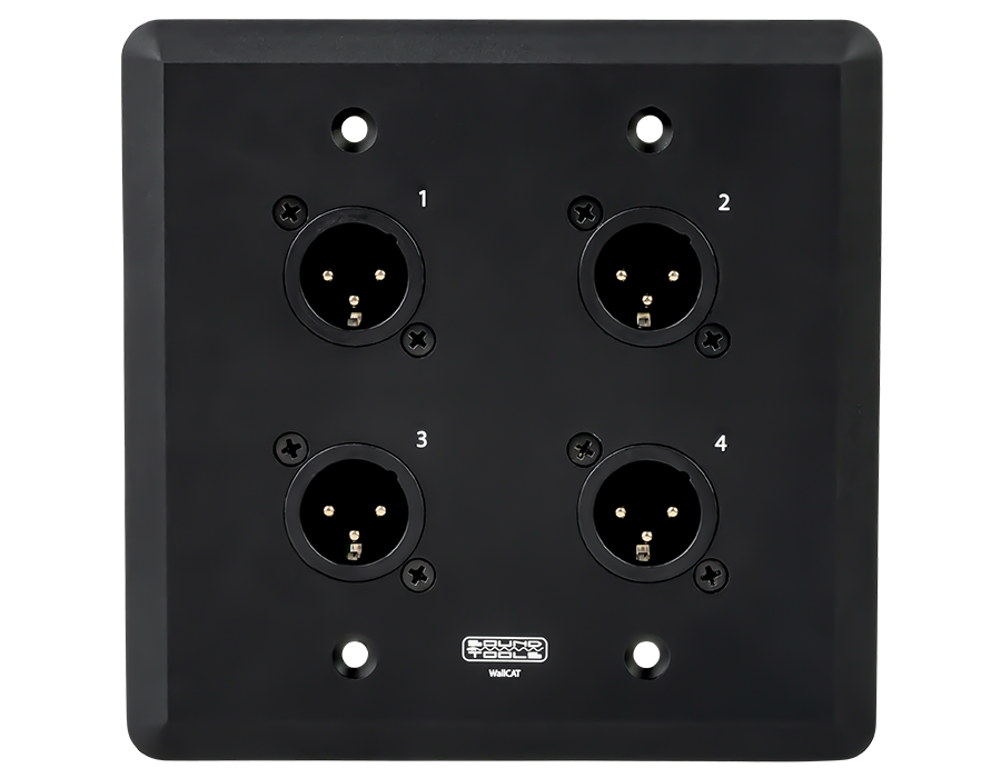 Clear-Com and AES. Wall CAT FX-B Capable of sending analog audio female, black DMX - Audio over shielded CAT cable